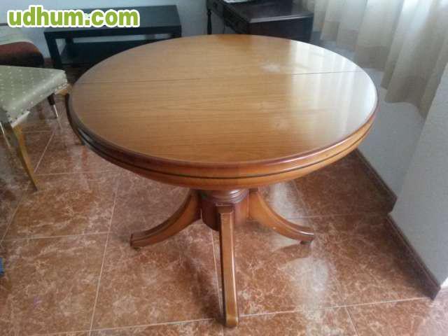 Mesa salon comedor madera ampliable for Mesas comedor sevilla