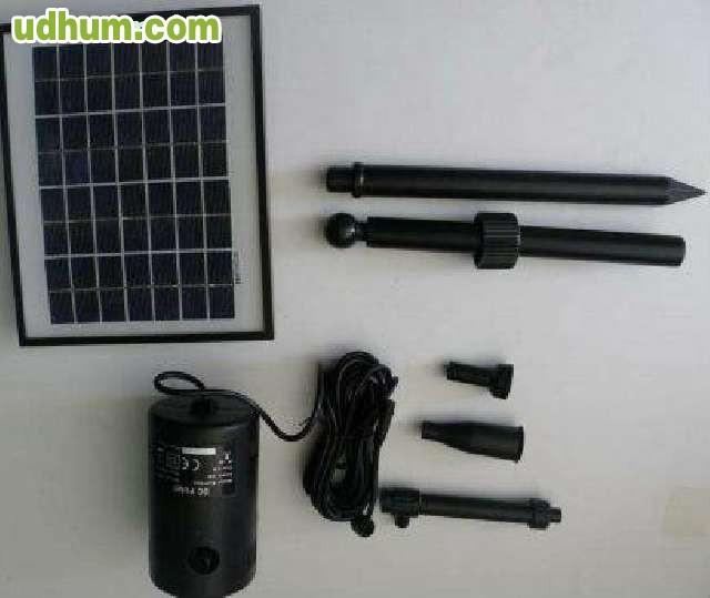 Fuentes y bombas solares - Fuentes solares para jardin ...