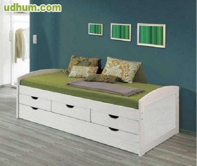 cama nido madera blanca cama nido modelo lineas