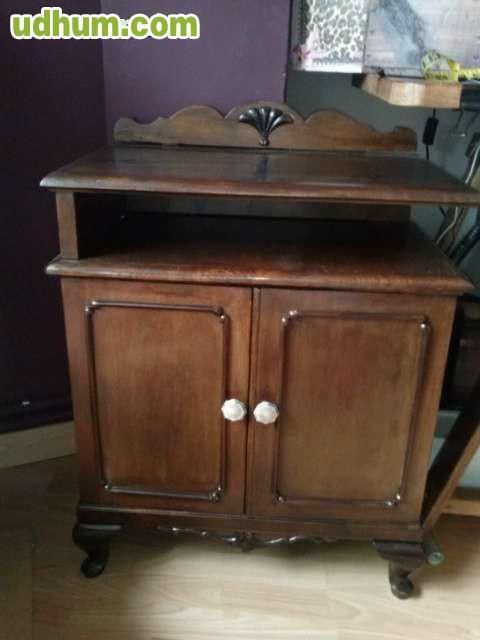 Mesilla antigua de madera restaurada - Mesillas de madera ...